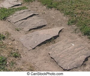 Cobbled path - Interesting cobbled path in the stone park in...