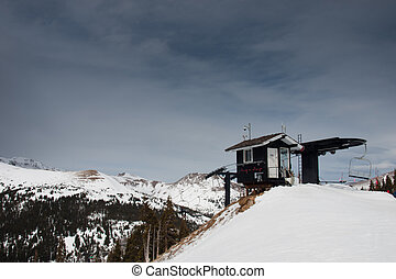 Chairlift at the Loveland ski resort, Colorado