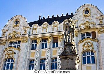 Roland Fountain Bratislava Square - Statue of Maximilian II...