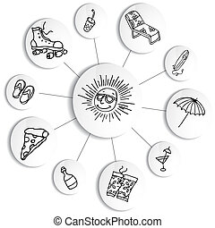 Summer Fun Wheel Chart - An image of a summer fun wheel...
