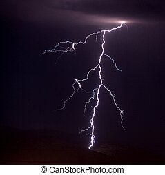 Lightning over the mountains near Tucson AZ