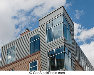 Apartment building - A modern condo building with an unusual...