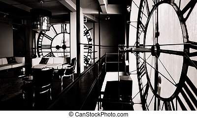 Inside Clock Tower - Inside of the Clock Tower on 16th...