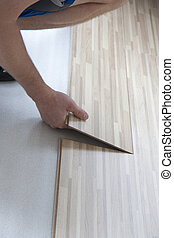 Flooring at home - Making new laminate floor at home