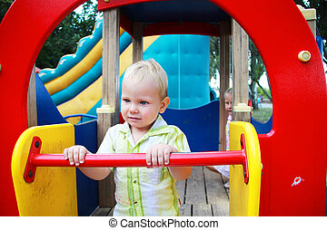The kid in the playground