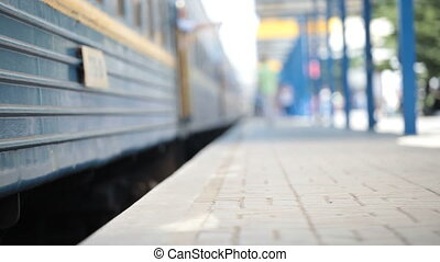 Train departs from the Station - Train departs from the...