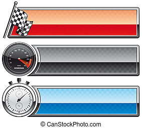Racing banners - Isolated illustration Racing banners