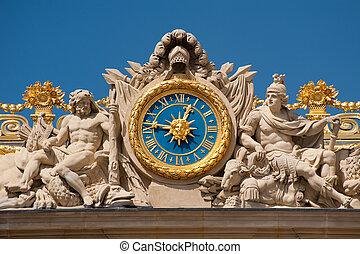 Clock at Versailles palace