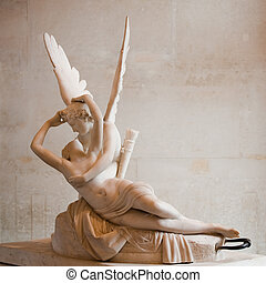 Love and Psyche, by Antonio Canova - Love and Psyche, statue...