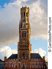 Belfort tower in Brugge, Belgium - Belfort tower, most...