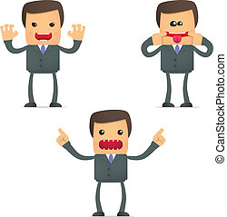 crazy cartoon businessman - set of funny cartoon businessman...