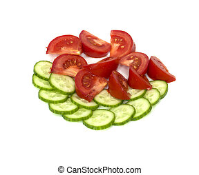 tomatoes with cucumber