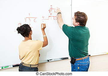 Math Class - Student and Teacher