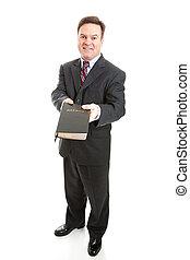cristiano, Bibbia, commesso, o, missionario