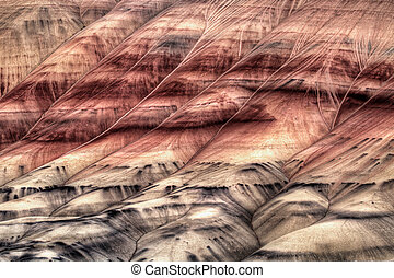 Painted Hills Oregon Closeup Abstract