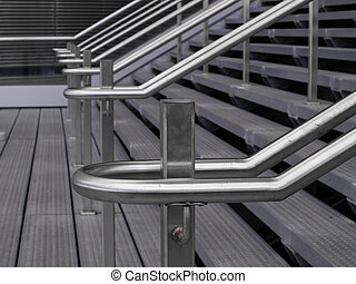 Railing detail - Contemporary handrail detail at the...