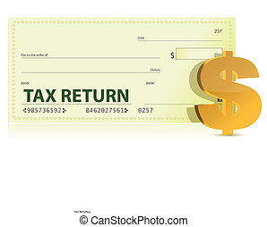 Tax Return Check illustration design