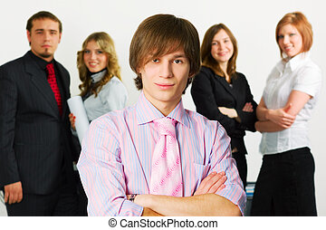 Young businessman team