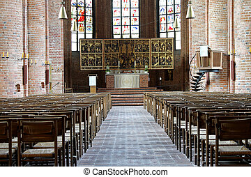 Marktkirche Lutheran church - Interior of Lutheran Church...