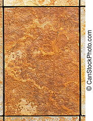 Marble tile - Brown marble tile with rough surface area