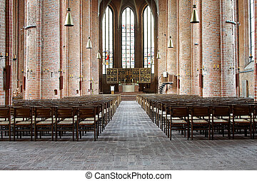 Lutheran Church Marktkirche - Interior of Lutheran Church...