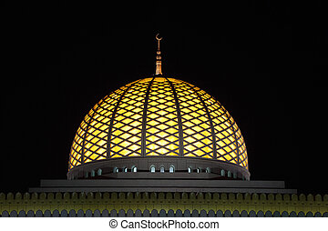 Cupola of the Grand Mosque in Muscat, Sultanate of Oman