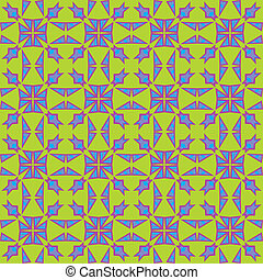 Colliding Triangle Pattern - Colliding triangles in blue and...