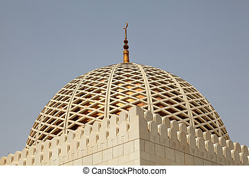 Cupola of the Sultan Qaboos Grand Mosque in Muscat, Oman