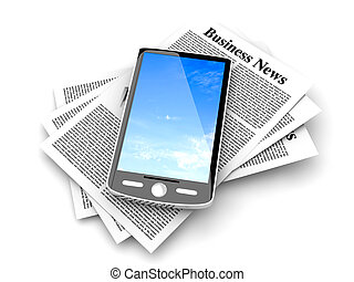 Smartphone in the Business News - A smartphone in the latest...