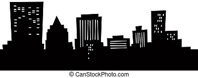 Cartoon Dayton Skyline