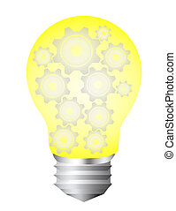 bulb electric - yellow and silver bulb electric with gray...