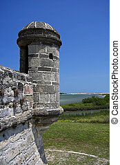 Old Sanish Watchtower at Fort Matanzas National Monument,...