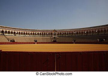 Bullring Sevilla - the famous bullring in Seville, Spain