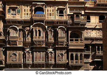 Patwon-ki-Haveli Jaisalmer India - the Patwon-ki-Haveli in...