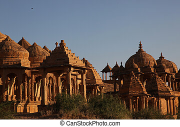 Bada Bagh Jaisalmer India - the Bada Bagh tombs in...