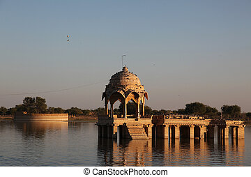 Gadi Sagar Jaisalmer India - the Gadi Sagar lake in...