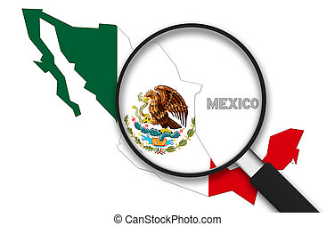 Magnifying Glass - Mexico - Magnifying Glass with the Mexico...