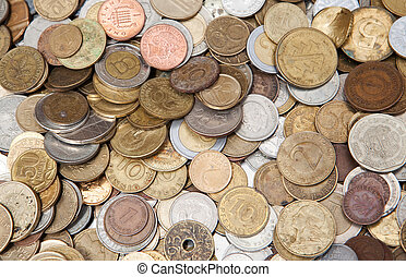 Different countries coins - Background from different...
