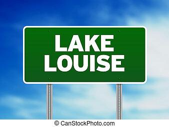 Lake Louise Road Sign