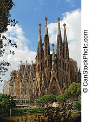Barcelona, -, agosto, 31:, SAGRADA, Familia, catedral,...
