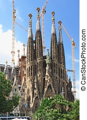 BARCELONA - AUGUST 31: Sagrada Familia cathedral on August...