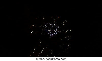 Beautiful fireworks victorious - Very beautiful and colorful...