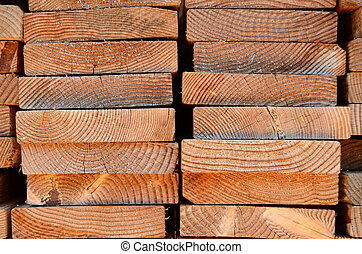 Stack Of Timber Planks - Background Texture Of A Stack Of...