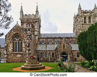 Wimborne Minster church - A view of Wimborne Minster church,...