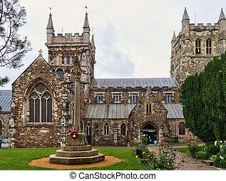 Wimborne Minster church - A view of Wimborne Minster church,...