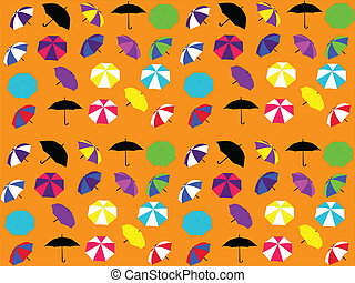 Background with umbrellas