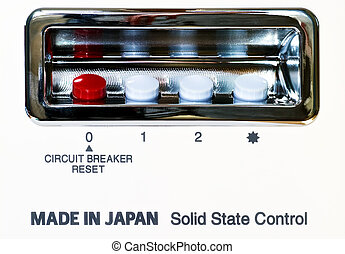 Solid state control - Control panel of abstract japanese...