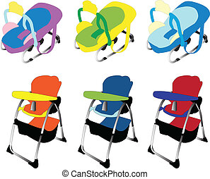 baby equipment 2 - vector
