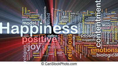 Happiness background concept glowing - Background concept...
