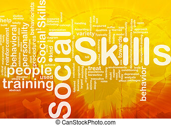 Social skills background concept - Background concept...